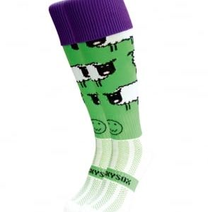 WackySox Sheep Green Sock