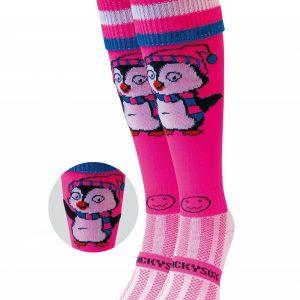 Pink Penguin Hockey Sock