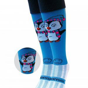Blue Penguin Hockey Socks