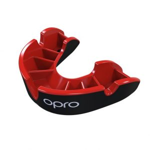 Junior Silver Black Red Fins Mouthguard