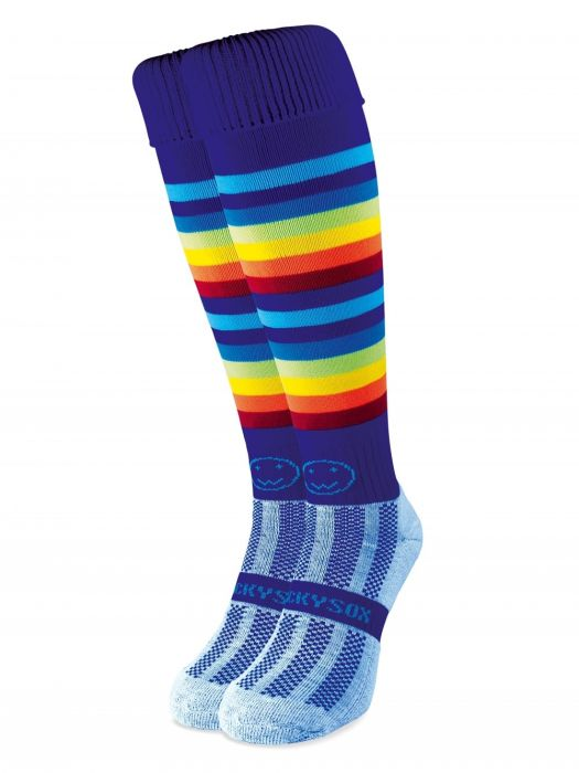 Razzle Dazzle Rainbow Hockey Socks