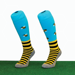 Blue Bees Hockey Socks