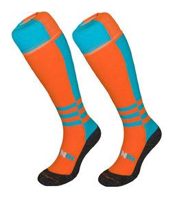 Twisted orange & blue Hockey Socks