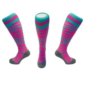 Zebra Rose & Mint Hockey Socks