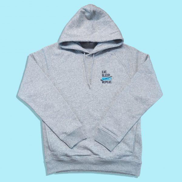 Eat Sleep Hockey Repeat grey hoodie